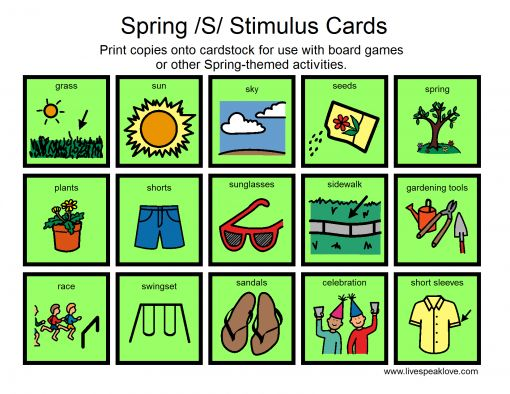 Working on /s/ sounds? Here is a Boardmaker file I created to use as stimulus cards for games, Easter egg inserts and homework practice. Print double copies to use for a matching/memory game. -  Pinned by @PediaStaff – Please Visit http://ht.ly/63sNt for all our pediatric therapy pins