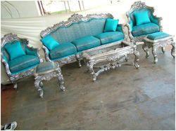Silver+Sofa+Set