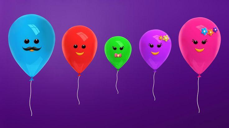 The Finger Family Balloon Family Nursery Rhyme   Balloon Finger Family Songs