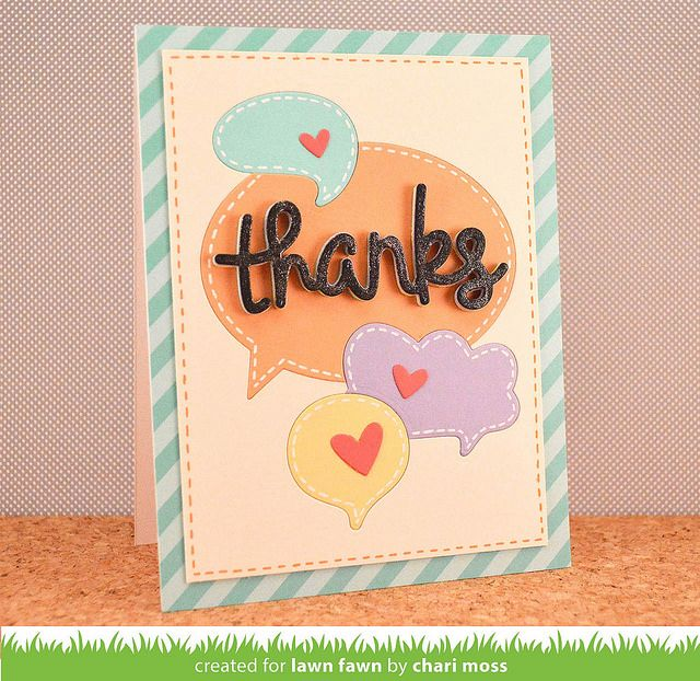 ThanksBubbles_charimoss by Lawn Fawn Design Team, via Flickr