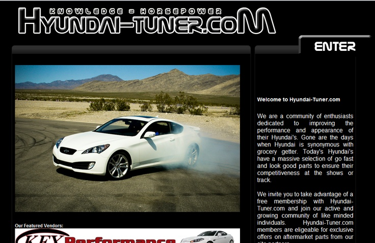 One of my earlier sites Hyundai Tuner