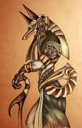 Resultado de imagen de anubis tattoo