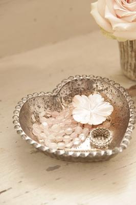 ❥ mercury glass heart dish