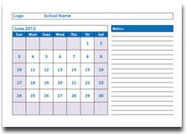 Great free printable monthly and yearly academic calendars