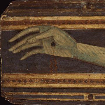 Coppo di Marcovaldo - Crocifisso di San Zeno, dettaglio - 1274 - tempera - Duomo di Pistoia.