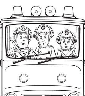 Coloring sheet - Fireman Sam!! @Sarah Westbrook