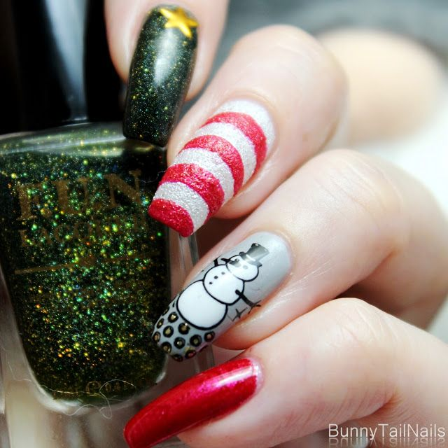 BunnyTailNails: Joulukynnet tonttujen kanssa