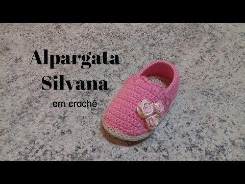 Alpargata Silvana em crochê - YouTube