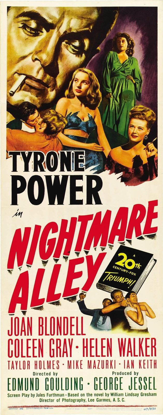 Poster design 1940 - Nightmare Alley Edmund Goulding 1947