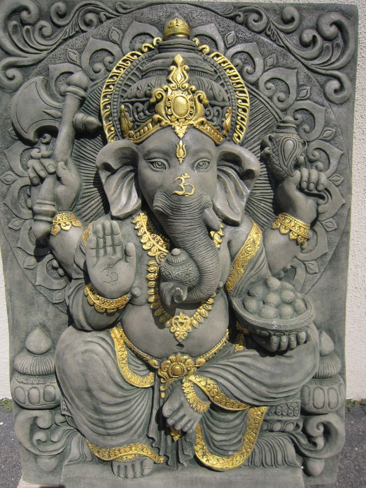 Sandstone Ganesh Wall Panel/fountain