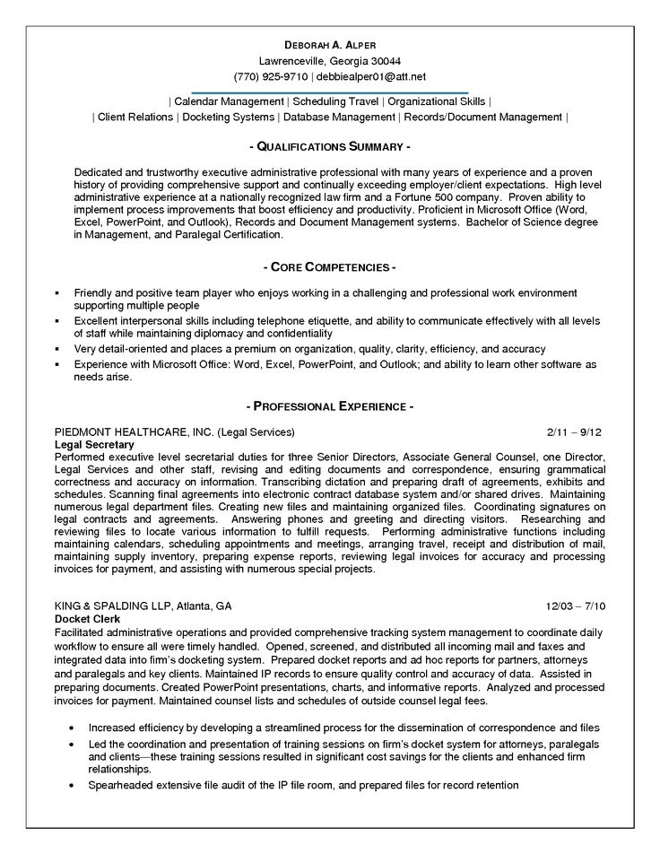 summary qualifications sample resume for administrative assistant - executive assistant summary of qualifications