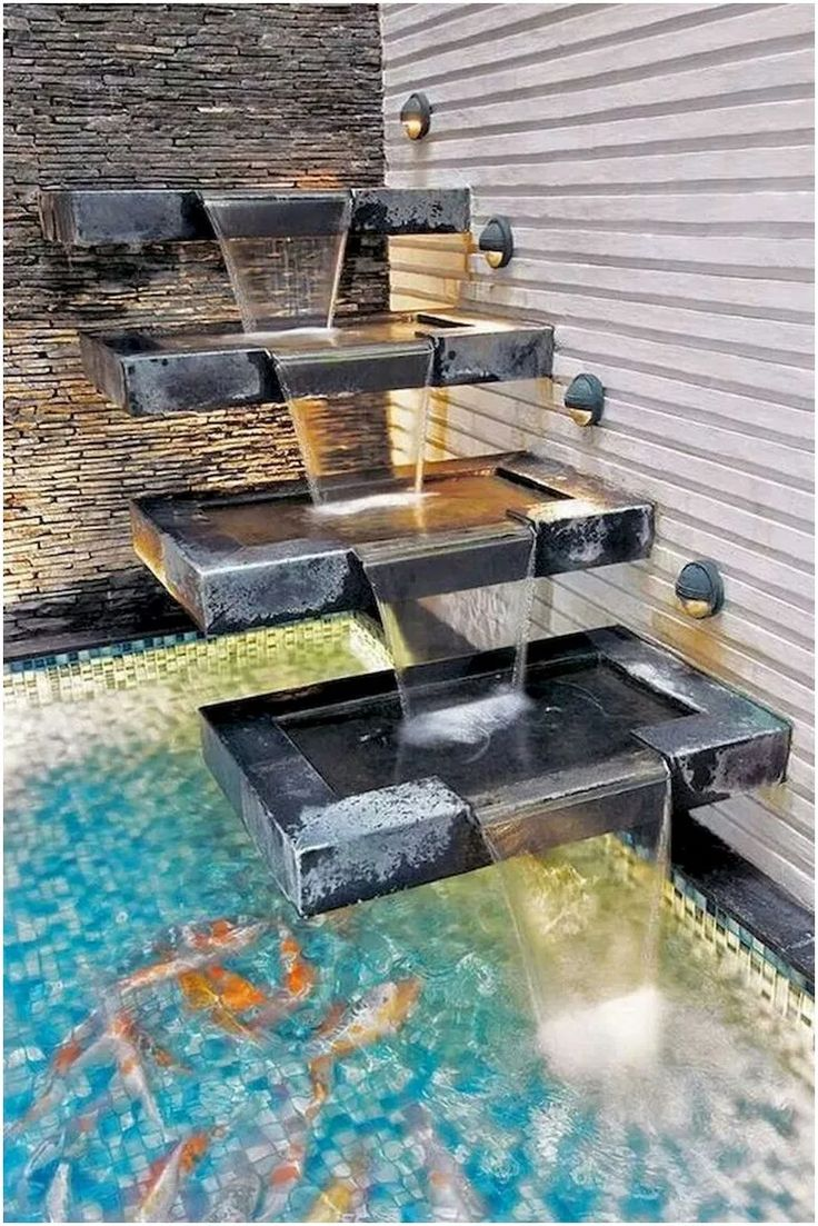 50 Gorgeous Backyard Ponds And Water Garden Landscaping Ideas 1 Water Fountain Design Water Fountains Outdoor Water Features In The Garden Modern outdoor water feature ideas
