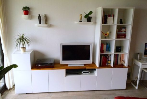 TV unit from IKEA METOD Kitchen Cabinets (IKEA Hackers