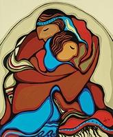 Moment of Commitment - Daphne Odjig (wonderful Anishinaabe Canadian artist)