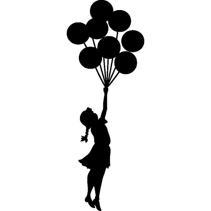 dibujo niña con globos