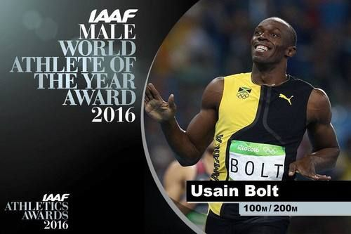 Thank you all 🙌🏽🙌🏽🇯🇲🇯🇲⚡️⚡️ Honoured to be your International Association of Athletics Federations Athlete Of The Year for the 6th time. Blessed. Humbled. Usain Bolt, December 2016