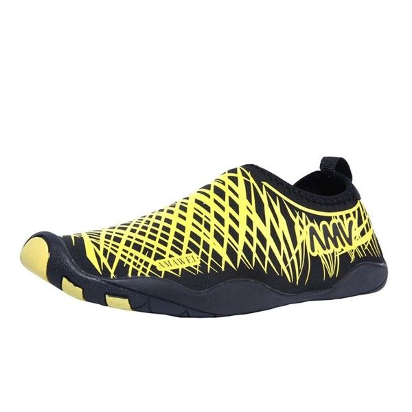 Beach Shoes Quick Dry Casual Sports Sneakers Slip-On Water Pool Surf Yoga Exercise For Men Women – Yellow – CT182Z7QHZT