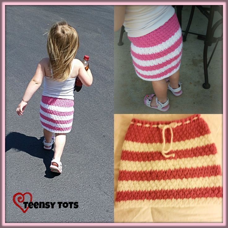 FREE Crochet Pattern: Cluster skirt including Newborn-4T with instructions to make the skirt bigger. http://crochetfromtheheart.com/downloads/pretty-in-pink-skirt/