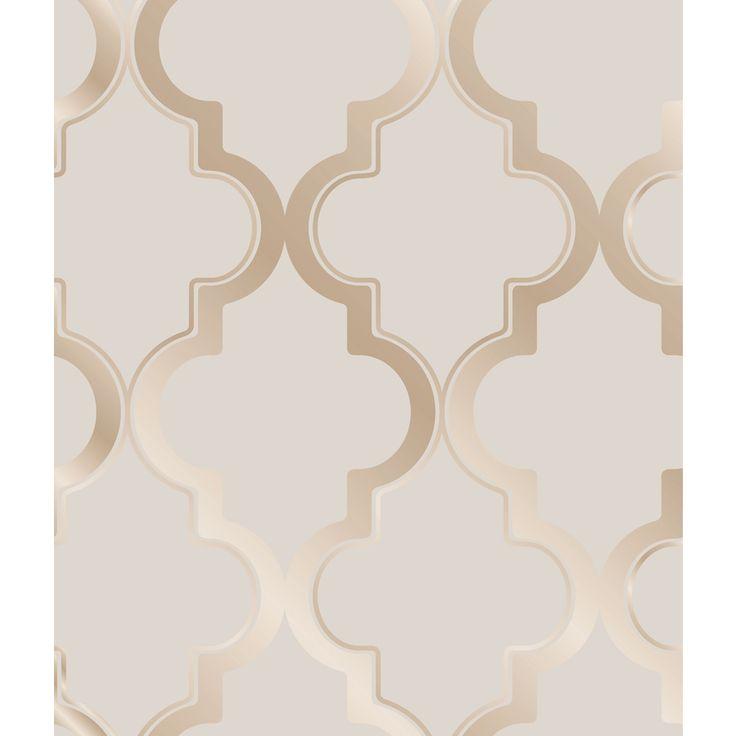 Tempaper Elements Bronze Gray Vinyl Geometric Wallpaper