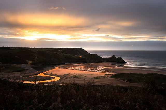 Another beautiful sunset over Three Cliffs Bay, Gower