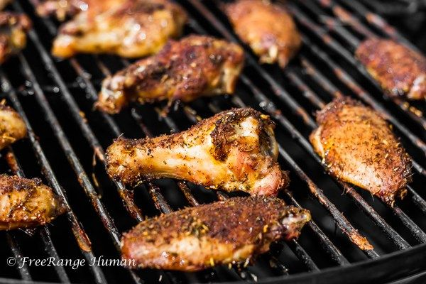 Smoked Chicken Wings with Homemade Ranch