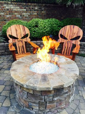 Custom Made Punisher Skull Adirondack Chair