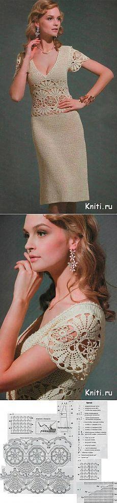 Vestido elegante verão crochet ...