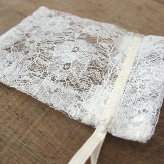50 pcs  cream lace bags  wedding lace favor bags by WorldOfWillows