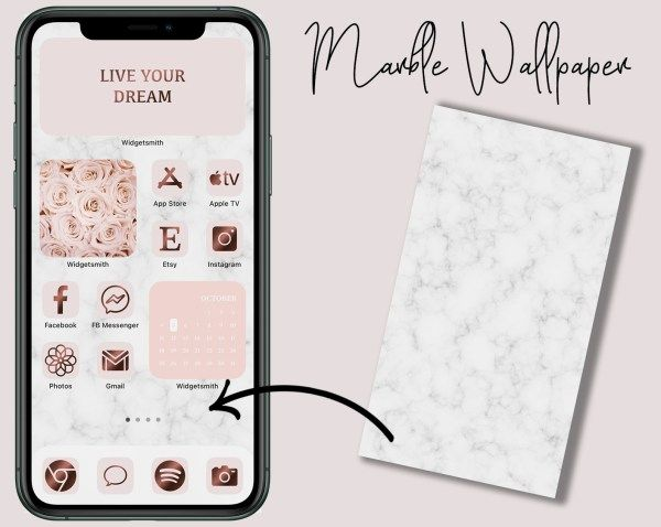 Aesthetic Iphone App Icons Blush And Copper App Icon App Iphone