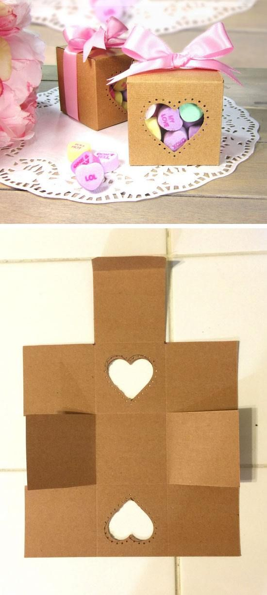 Candy Hearts Treat Box | Easy Valentine Crafts for Preschoolers to Make