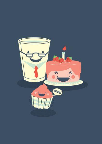 Oh! my sweet little cupcake. Art Print
