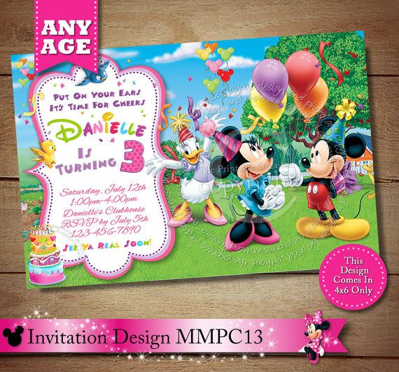 97 best Minnie Mouse Clubhouse Invitations Party Printables