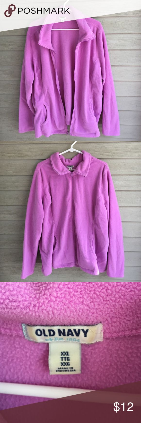 💜 purple zip up I'm selling a really cute purple zip up sweater from old navy! It's very soft and comfortable! In great condition. Sweaters