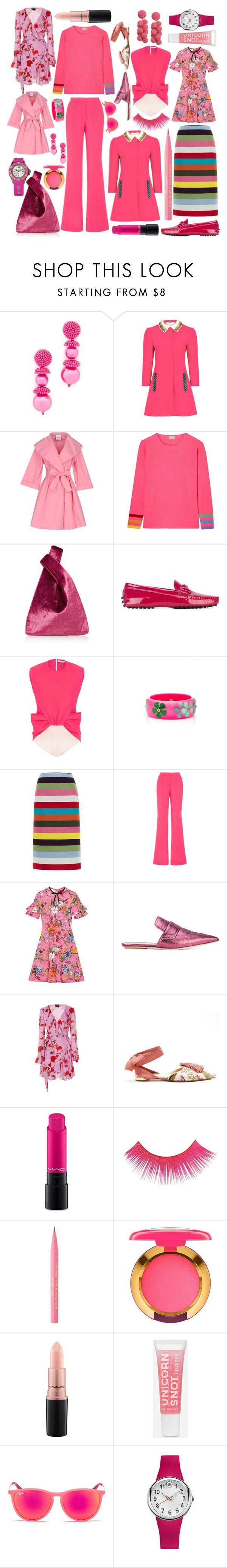 """A Few of My Favorite Pinks!"" by nicoletrail-1 ❤ liked on Polyvore featuring Oscar de la Renta, Mary Katrantzou, Moschino Cheap & Chic, Orwell + Austen, Hayward, Tod's, Mark Davis, Gucci, Marni and Cynthia Rowley"