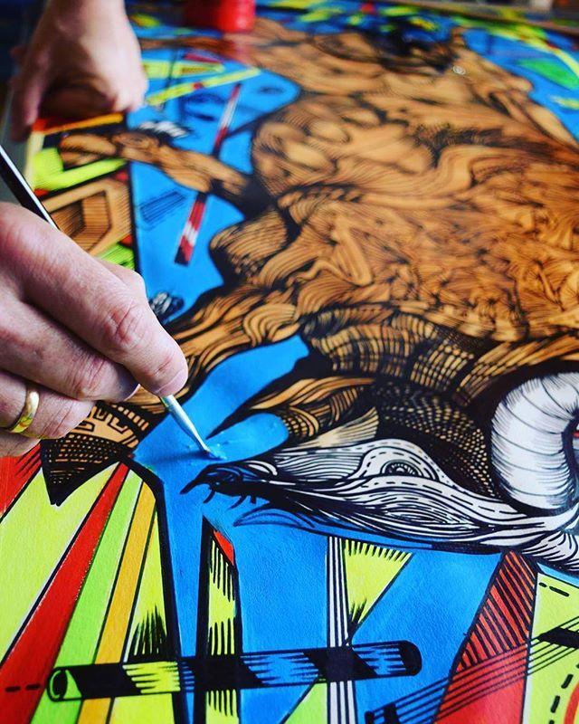 Bull painting  #artsy #newyorker #bulls #fight #wallstreet #instaart #yellow #contemporaryart #nyc #fighter #modernart #lines #blue #moments #brushstrokes #artstagram #drawing #sculptoroflight #mystudio #markogavrilovic #artwork #artdealers #artcollector #streetart #bullpainting  #urbanwalls #graffiti #instagood #urbanart #instagraffiti