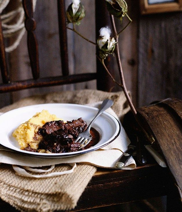 Beef cheeks with creamed swede :: Gourmet Traveller