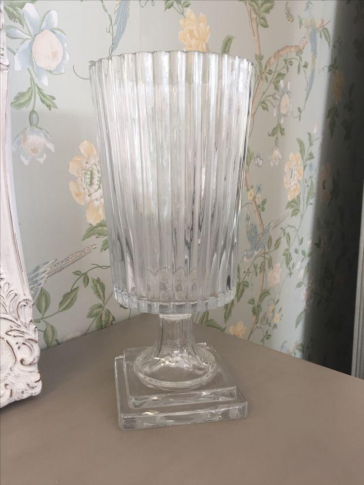Ribbed Glass Trophy Vase
