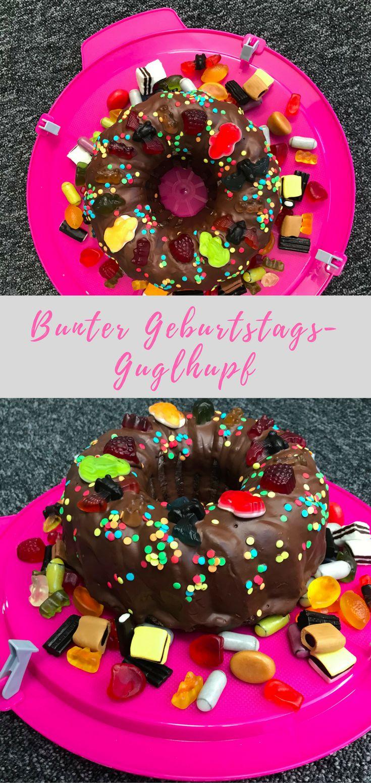 Guglhupf-Rezept: bunt. saftig, einfach und lecker - ein toller Kuchen zum Geburtstag. Mit Schoko-Geschmack, kombinierbar mit Punschgewürz für einen Glühweinkuchen zu Weihnachten.