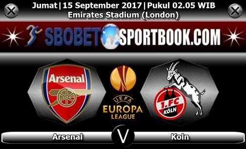 Sbobetsportbook.com - Tim Arsenal akan memulai langkah perjalanan mereka di ajang Liga Europa yang memasuki akhir pekan ini. The Gunners yang dijadwalkan berhadapan dengan menjamu tim asal Jerman Koln yang akan dihelat di Emirates Stadium (London) Jumat, 15 September 2017 pada pukul 02.05 dini hari WIB.