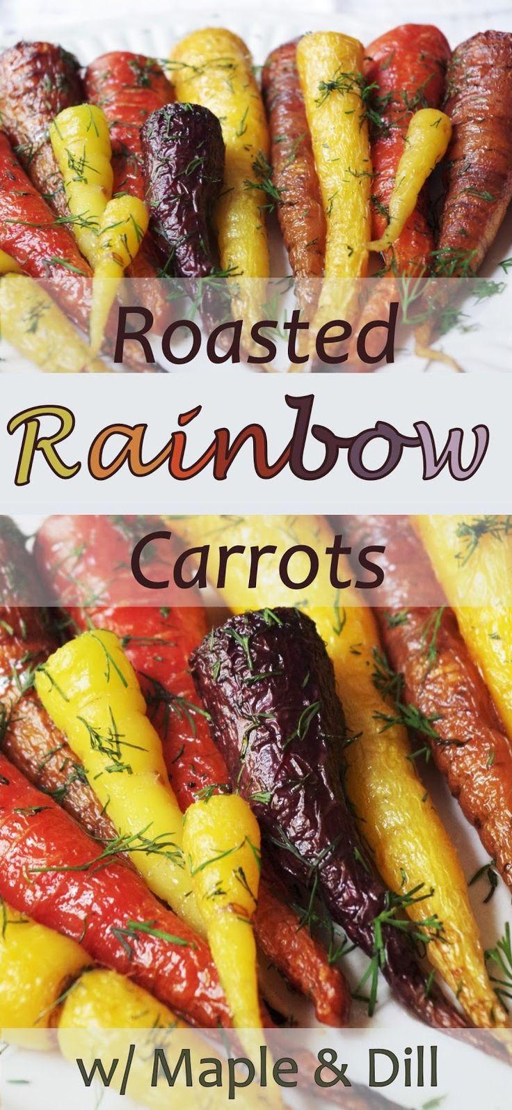 Roasted Rainbow Carrots w/ Maple & Dill |Euphoric Vegan