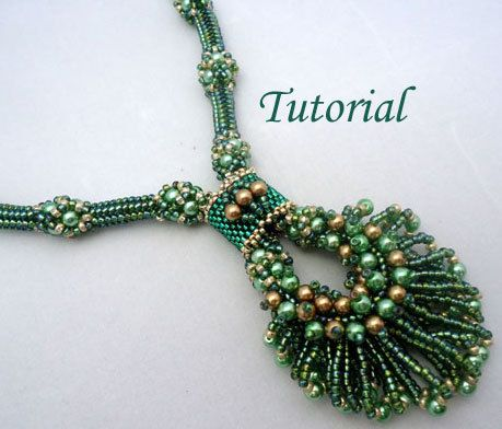 Tutorial Peacock Necklace - Probably way beyond my skill level right now but maybe not later ;)