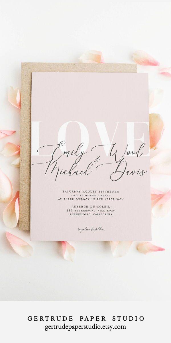 Custom Instant Download Printable DIY Elegant Calligraphy Invitation Suite