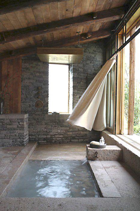 Rustic bath