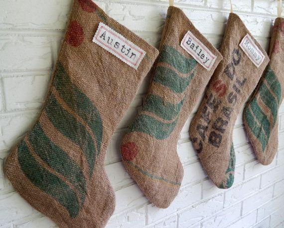 Calcetines Papa Noel Sacos de café