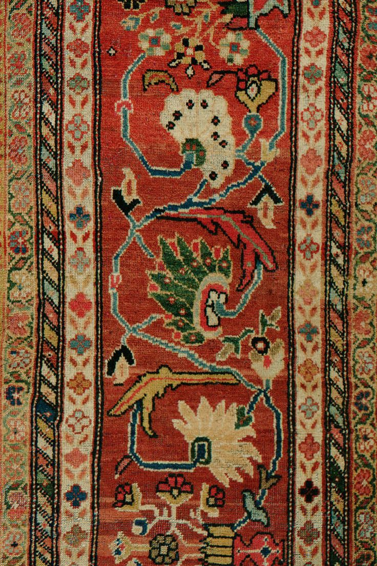 Antique Persian Ferehan | From a unique collection of antique and modern persian rugs at https://www.1stdibs.com/furniture/rugs-carpets/persian-rugs/