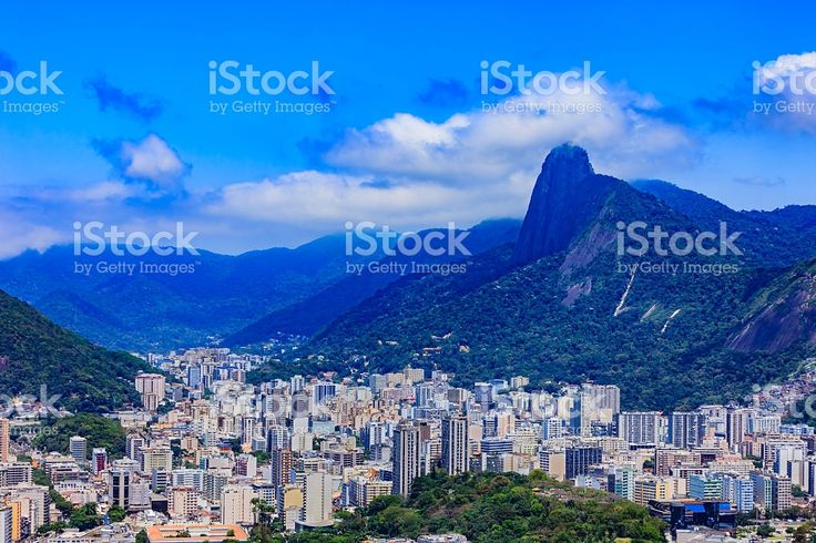 Rio de Janeiro, Brazil: looking towards Corcovado, from Sugarloaf royalty-free stock photo