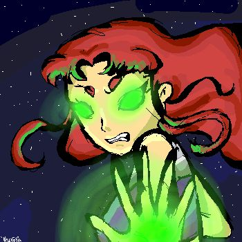 Image result for starfire angry