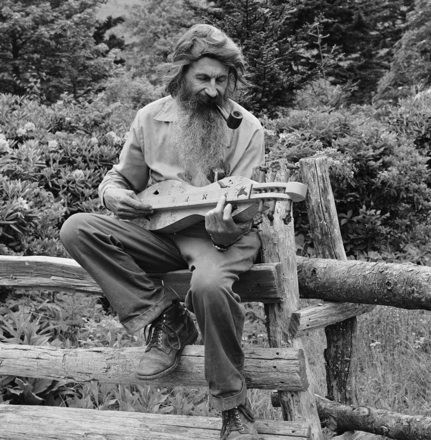 Unidentified dulcimer player at Grandfather Mountain, Linville, NC, circa 1970s-1980s