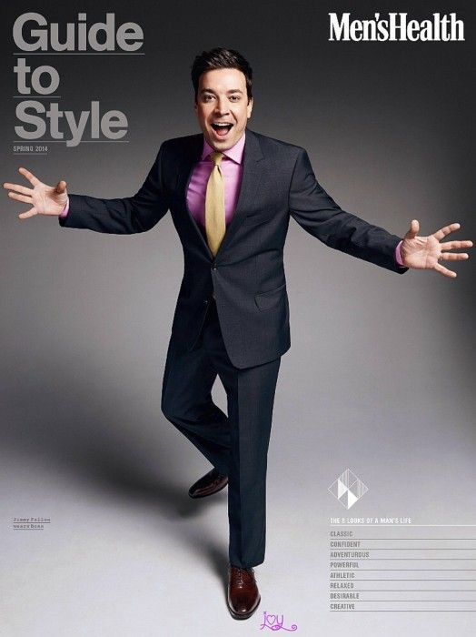 Jimmy Fallon in the March Issue of Mens Health Magazine and wearing @johnstonmurphy on the cover!