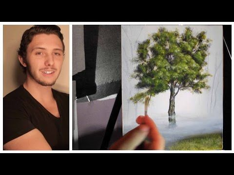 VERY GOOD How to paint trees, branches and leaves! A basic speed painting tutorial of a tree.. - YouTube